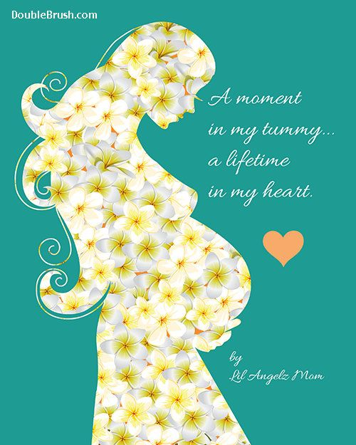 Pregnancy Poem Art Print A Moment in My by HappyHomeDecorPrints