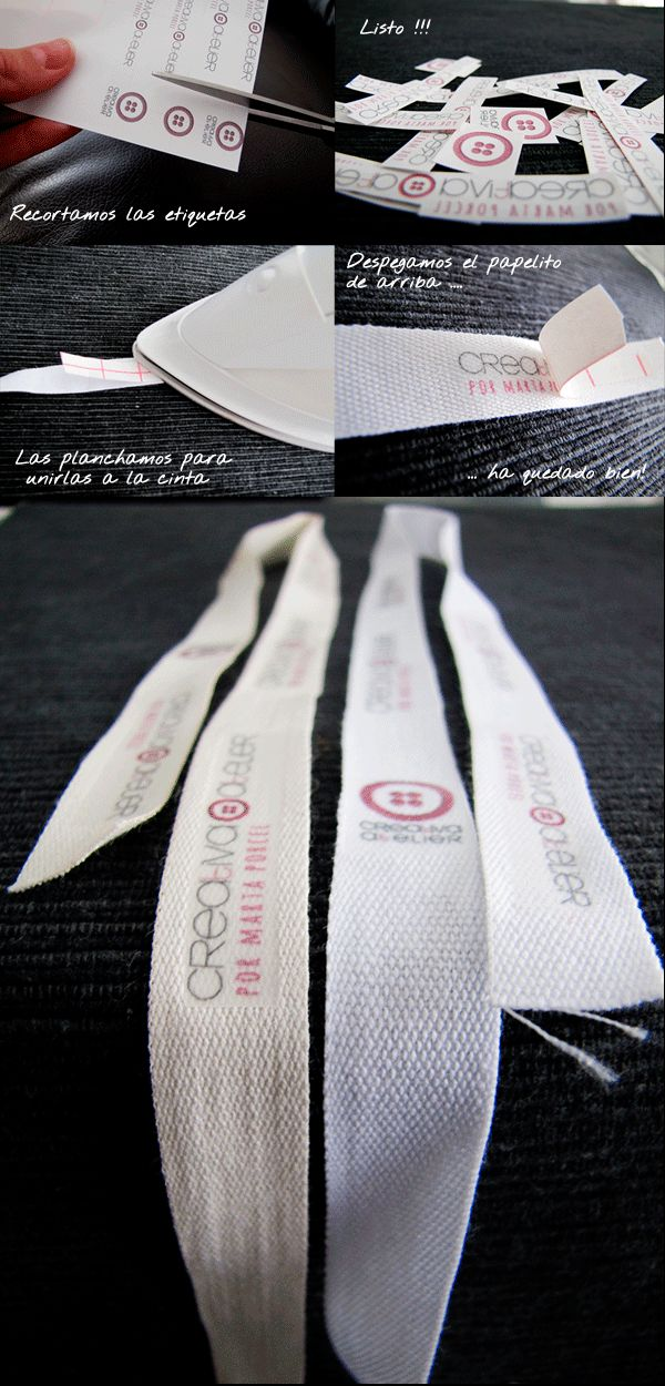 Etiquetas ropa14 Etiquetas DIY para personalizar tus proyectos ¡Crea tu marca!