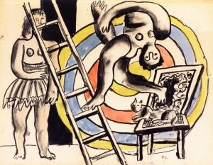 An Acrobat and His Partner - Fernand Léger - The Athenaeum