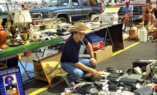 Flea market Denver, Colorado.