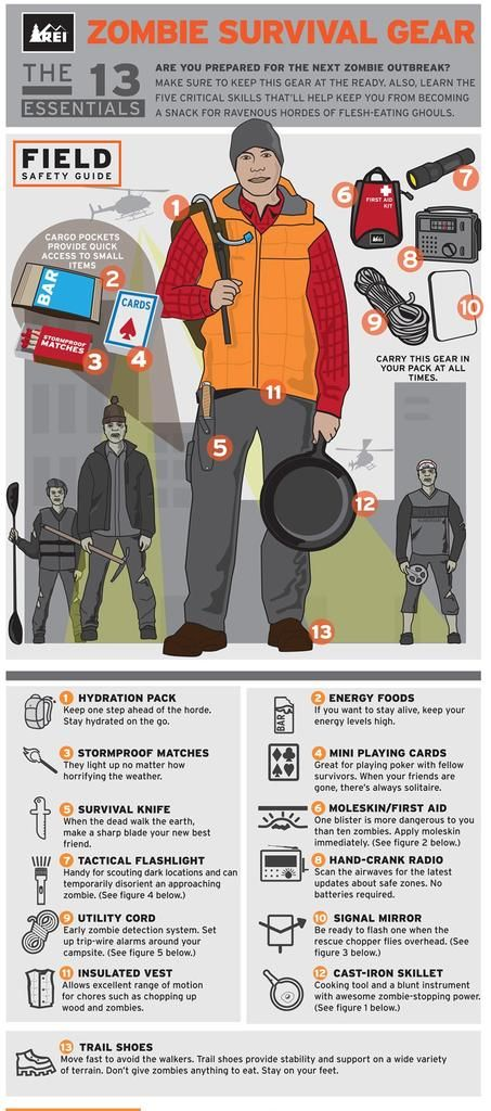 "REI will offer ""Zombie Preparedness – Surviving a Zombie Apocalypse,""    an urban survival course, at 45 stores across the country."