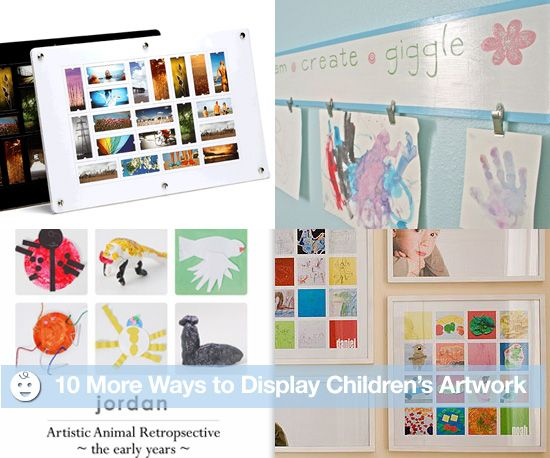 10 More Ways to Display Children's Artwork: Displaying Childrens, Childs Artwork, Artworks, Google Search, Childrens Artwork, Artwork Hanger Dreaming, Interesting Artwork