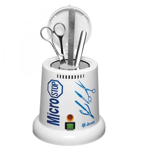 Αποστειρωτής μεταλλικών αντικειμένων με μικροσφαίρες CERIOTTI.  Βακτηριοκτόνα μονάδα με μικροσφαίρες χαλαζία,σχεδιασμένη τόσο για ινστιτούτα αισθητικής όσο και για κομμωτήρια.  Αποστειρώνει με υψηλή θερμοκρασία πάνω από τους 200 ° C. Sterilizing θάλαμος σε σχήμα κυλίνδρου Διαστάσεις: 18 x 18 x 20 εκ. Άσπρο χρώμα Ισχύς 75W Θερμοκρασία αποστείρωσης  200 ° C +.  http://www.beautymark.gr/   117,80 € με Φ.Π.Α.
