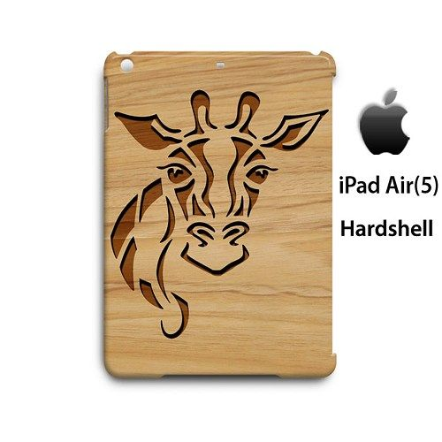 Carving Giraffe Style Wood Case for Apple iPad Air