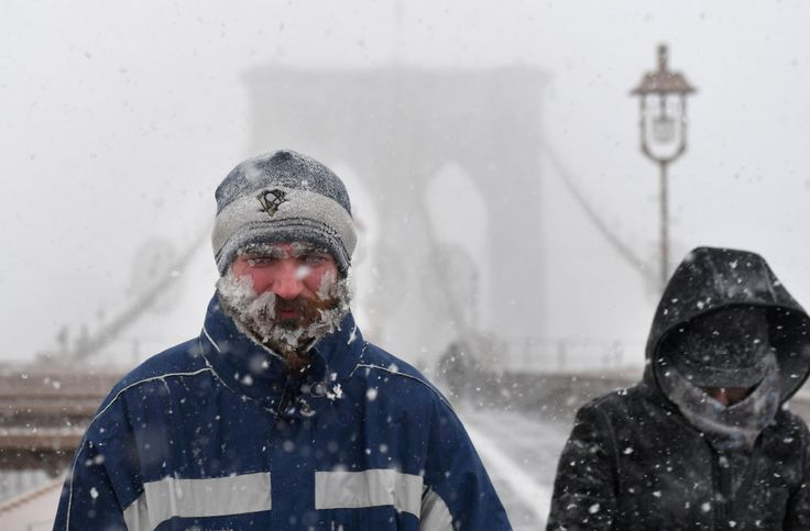 From Baltimore to Caribou, Maine efforts were underway to clear roadways of ice and snow as wind chill temperatures were to plunge during the day.