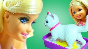 Куклы Барби и писающая кошечка  Видео с игрушками для девочек  Barbie doll videos http://video-kid.com/9424-kukly-barbi-i-pisayuschaja-koshechka-video-s-igrushkami-dlja-devochek-barbie-doll-videos.html  Челси нашла на улице кошечку и принесла её домой. Барби разрешила оставить кошечку в доме. Теперь Челси нужно не только гулять и кормить кошечку, но научить её ходить на кошачий туалет. Видео с игрушками для девочек. Писающая кошечка  куклы Барби.