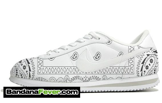 newest ee116 3c0ca nike cortez blue bandana shoes