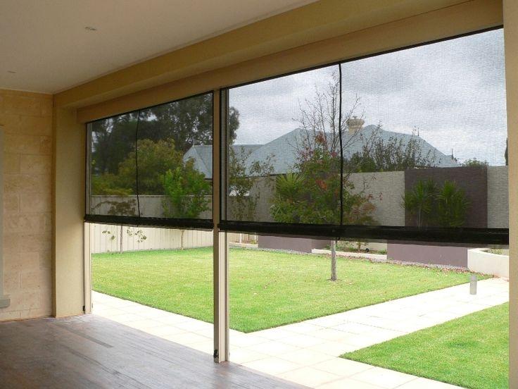 Semi Transparent Ziptrak Blinds on a Deck