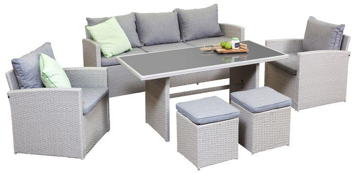3 Seat Outdoor Sofa Sets - Berga 3 Seat Sofa Set