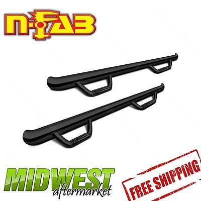 N-Fab Gloss Black Step Bar Fits 2005-2016 Nissan Frontier Extended Cab 5'5 Bed