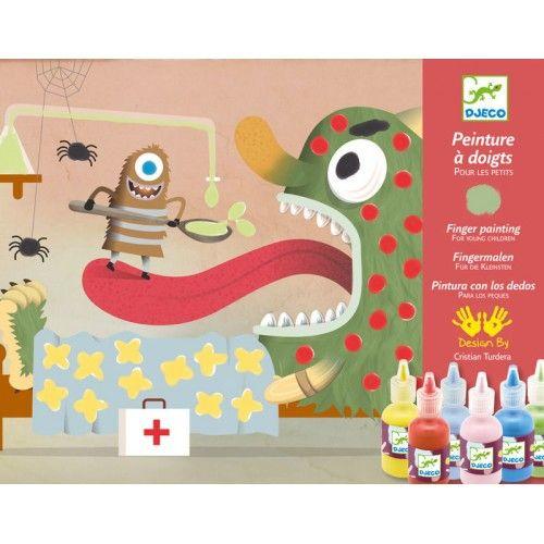 Szörnyek feldíszitése, Decorate the creatures ujjfejtés 3 éves kortól - Djeco