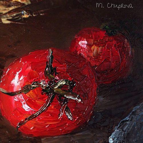 still-life-tomatoes-oil-painting Натюрморт. Помидоры. Картина маслом  by Chuprova Margarita