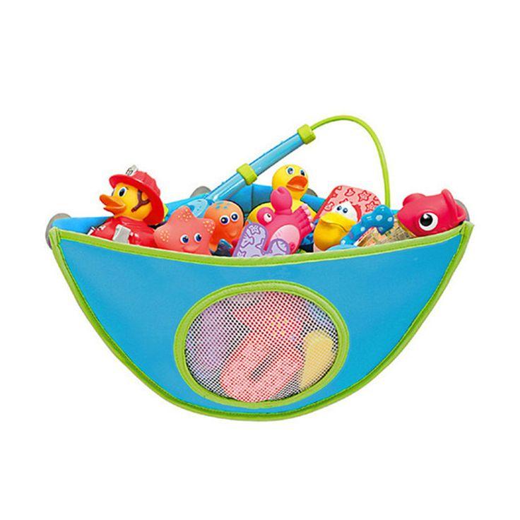 38*29*18cm Folding Eco-Friendly High Quality Baby Bathroom Mesh Bag Child Bath Toy Storage Bag Net Suction Cup Baskets #Affiliate