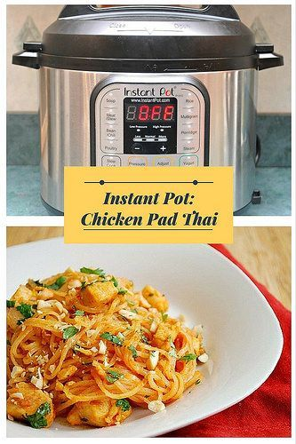 Instant Pot Chicken Pad Thai will have you rethinking the restaurant version because you can make it at home for the fraction of the price and still have the same great taste (if not better!)...#instantpot #chicken