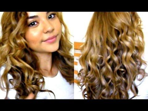Bouncy Curls Tutorial + Remington Curling Wand  I have stick straight fine hair. When I try to curl it, it usually falls in less than 30 minutes. Using this along with TRESemme's Curl Activator Spray allows me to have bouncy curls for hours.