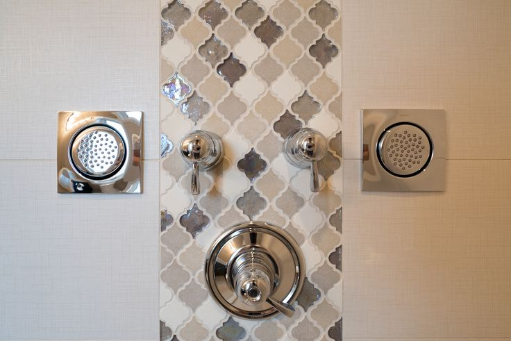 Beautiful tile art work in the en-suite bathroom shower!!
