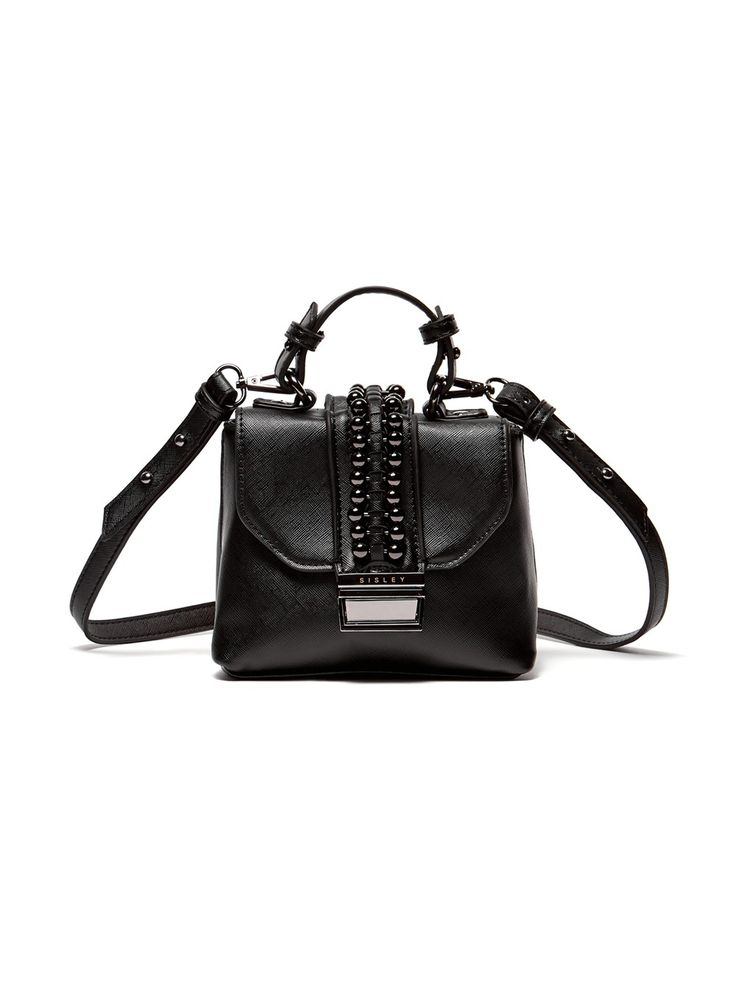 Mini satchel with studs black - NEW COLLECTION | Sisley