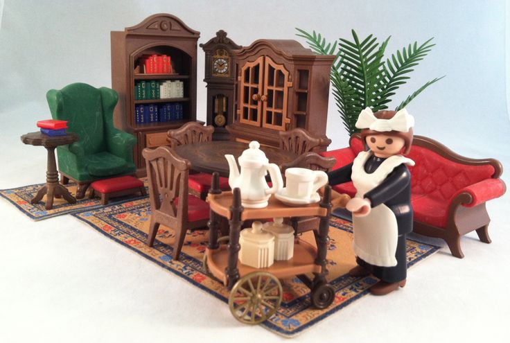 Victorian mansion dining room vintage early 1990 39 s sold for Playmobil living room 4282