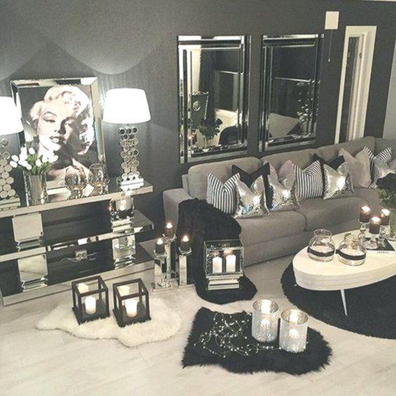 Silver Living Room, Silver Living Room Ideas