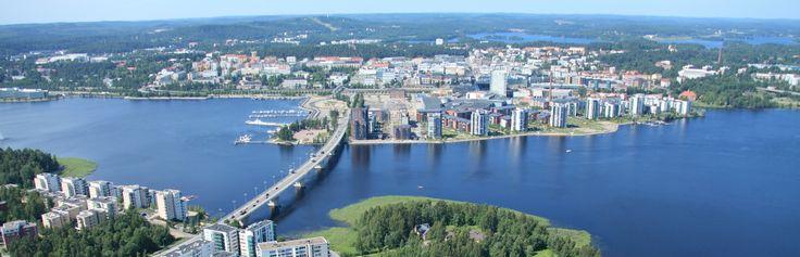 Herrliche Luftaufnahme von Jyväsyklä, #Finland