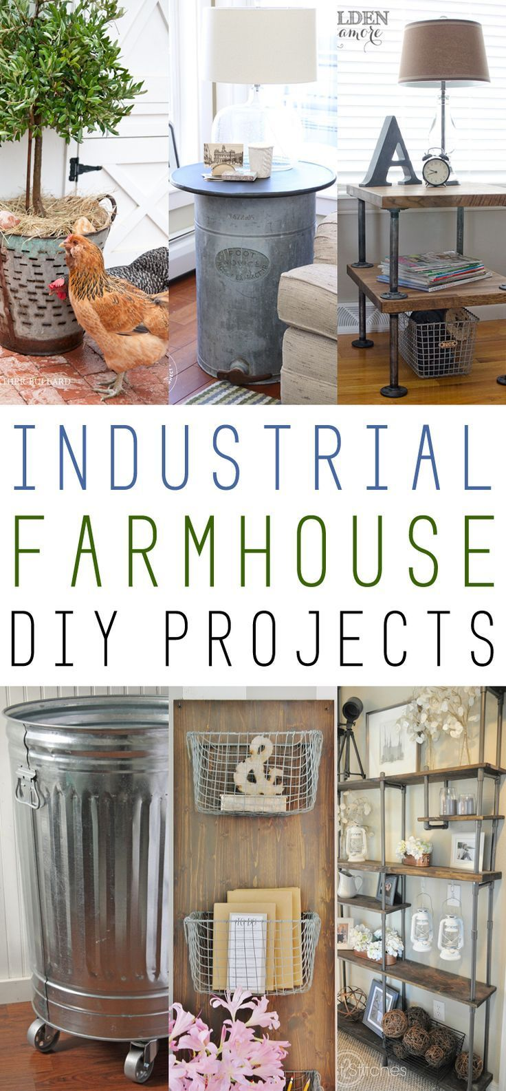 inspiring industrial farmhouse living room | Farmhouse Fridays /// Industrial Farmhouse DIY Projects ...