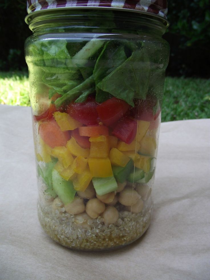 salad in a jar   perfect start of the week solution to boring lunches.
