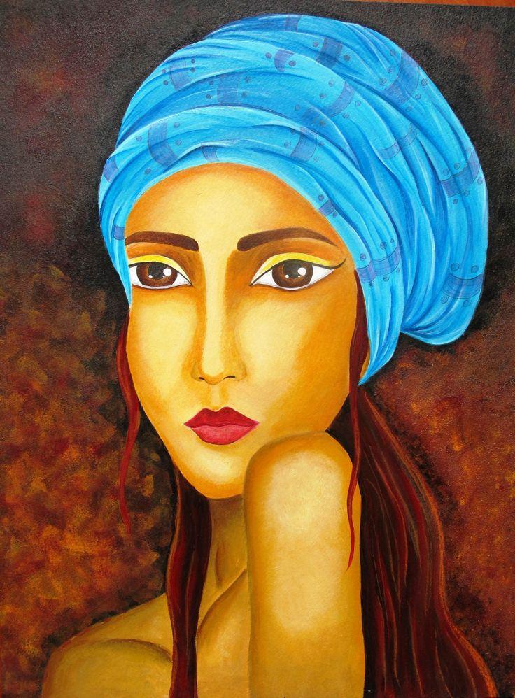 acrylic, portrait