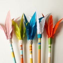 Arrows are a fun decorating trend right now, and this project will add a pop of color to any room (plus they have lots of other uses too).