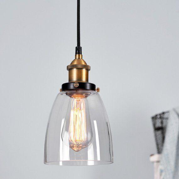Glass Pendant Lighting Mini Pendant Light Fixture In Gold
