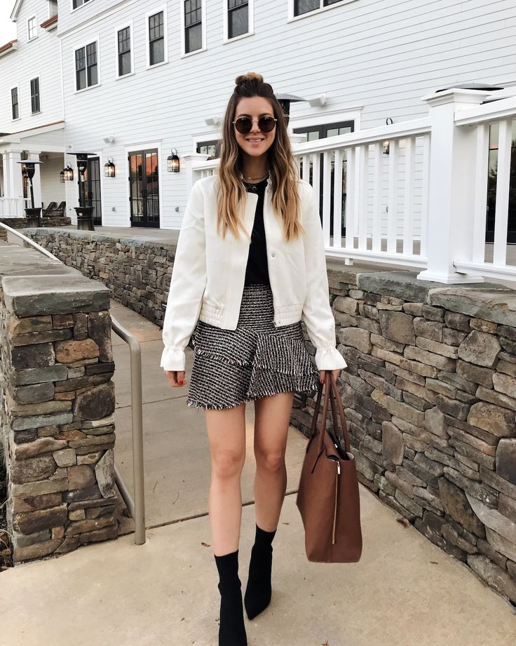 H&M Head To Toe Outfit with Ruffle Skirt and Ruffle Bomber