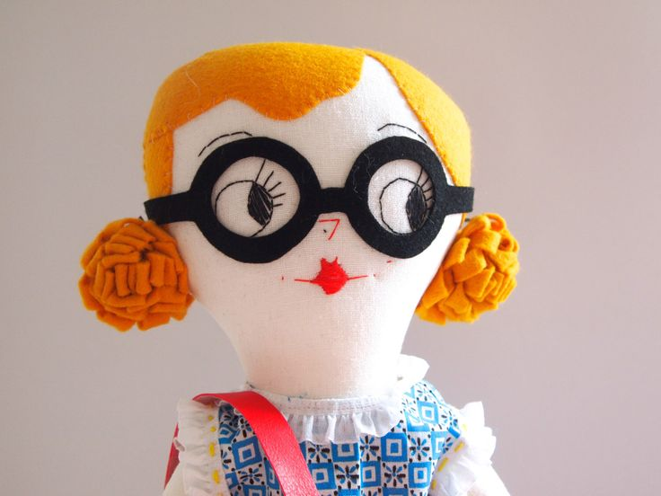 WINTER SALE Molly Dolly rag doll heirloom quality, Evelyn Rose by JessQuinnSmallArt on Etsy https://www.etsy.com/listing/127365236/winter-sale-molly-dolly-rag-doll