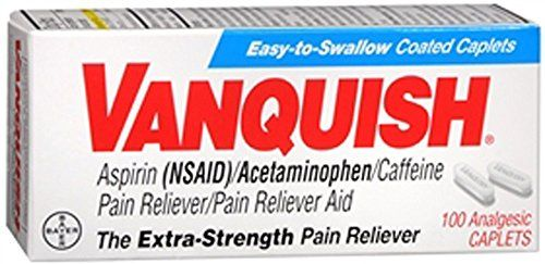 BAYER CORPORATION Vanquish Caplets ExtraStrength Pain Reliever 100 Analgesic Caplets *** Check out the image by visiting the link.