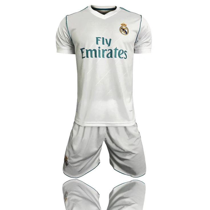 16-17-18 Real Madrid football suit Real Madrid long-sleeved football uniforms with children's clothing