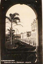 Foto tirada de dentro do coreto, obra de Armindo Costa, década de 30