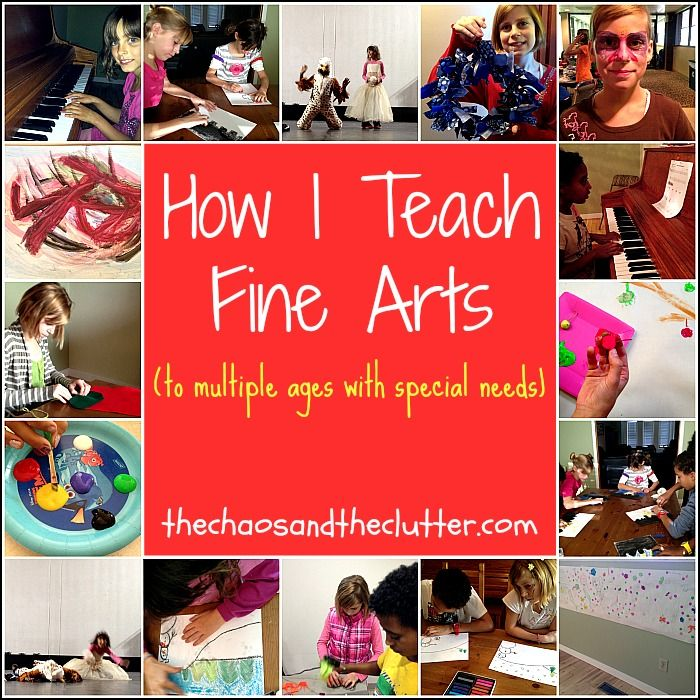 How I Teach Fine Arts to multiple ages with Special Needs