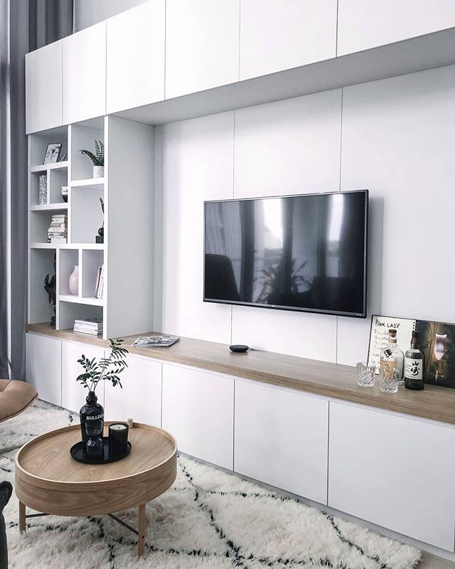 There Are 3 Reasons Why I Love To Costumize Furniture For Clients 1 With A Large Wall Like This One Living Room Wall Units Tv Room Design Living Room Storage Living room wall cabinets furniture