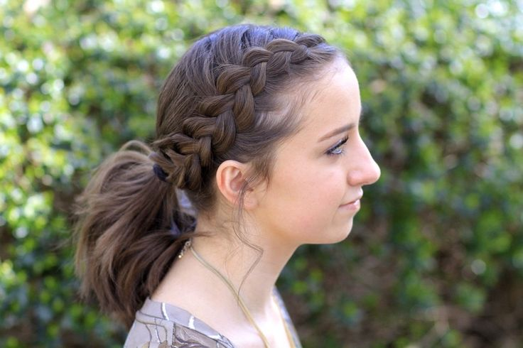 Dutch Accent Ponytail | Short Hairstyles and more Hairstyles from CuteGirlsHairstyles.com