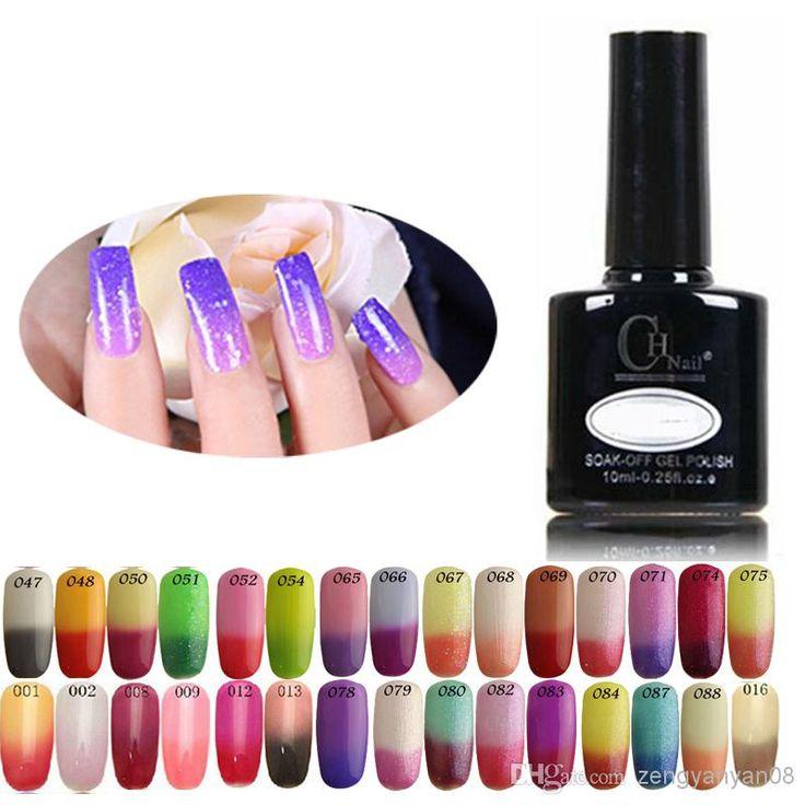 Color Changing Gel Nail Polish: Temperature Change Nail Gel Color Nail Art Shellac LED UV