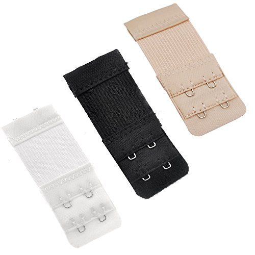 From 1.99:Ladies Bra Strap Extenders 2 X 2 Hooks - Assorted Colour - Black Beige White