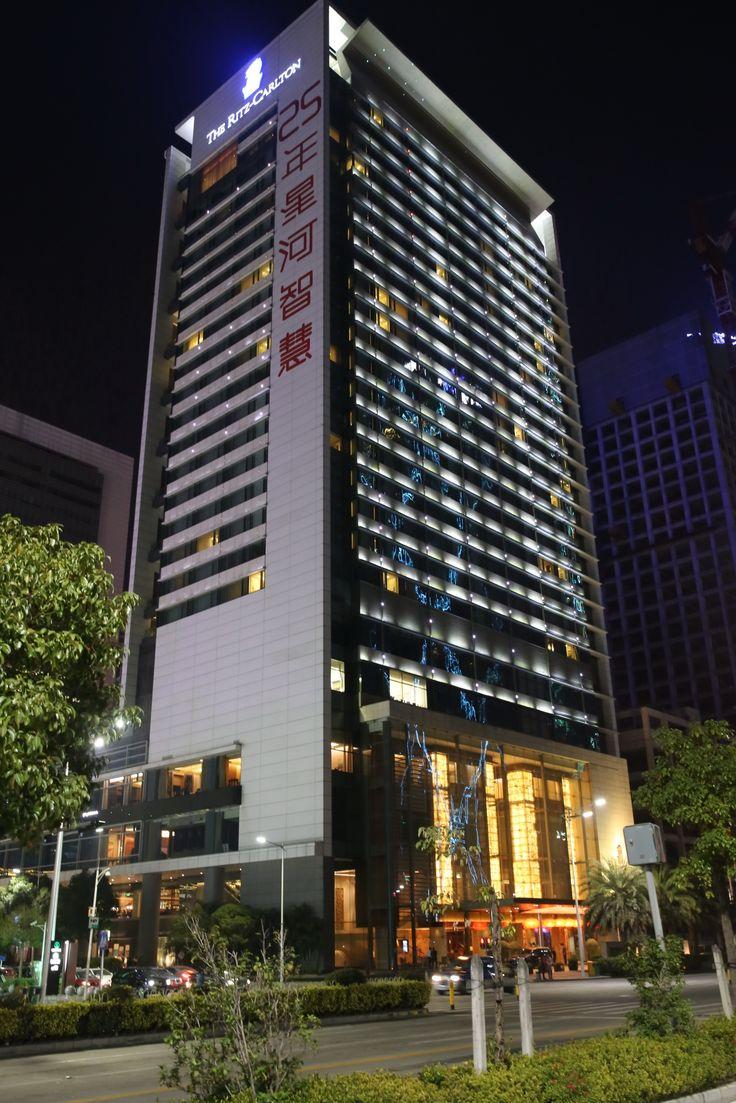 Подсветка отеля Ritz-Carlton