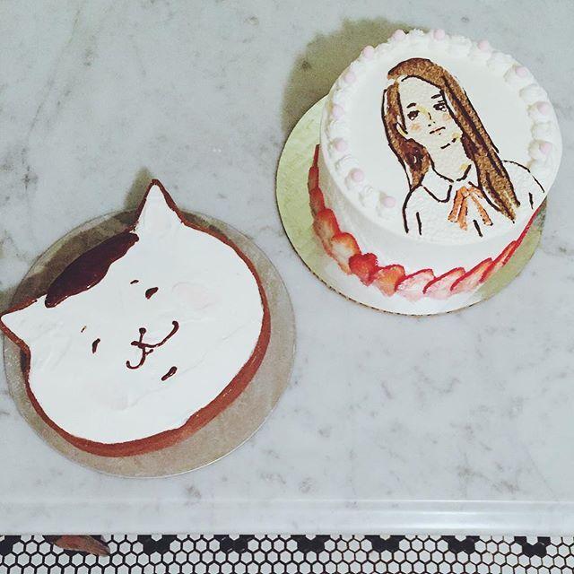 Celebrating @hoshiyr #逢沢りく #きょうの猫村さん #bananacreamtart #strawberryshortcake