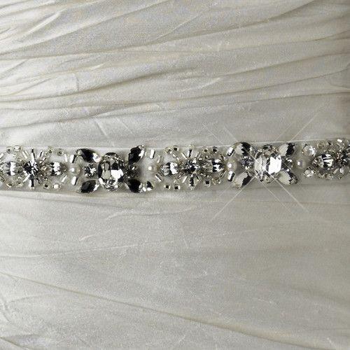 Pearl Rhinestone Beaded Bridal Sash Belt Wedding Accessories