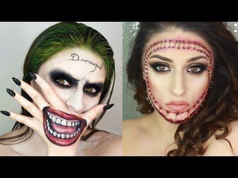 Videos De Maquillaje De Halloween.Top 12 Diy Maquillajes Para Halloween Tutorial Compilacion