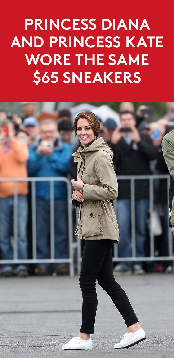 Princess Diana and Princess Kate Wore The Same $65 Sneakers | Kate Middleton, the Duchess of Cambridge, is a fashion and beauty icon for millions of women around the globe, but it appears she may take more style cues from the late Princess Diana than we realize.