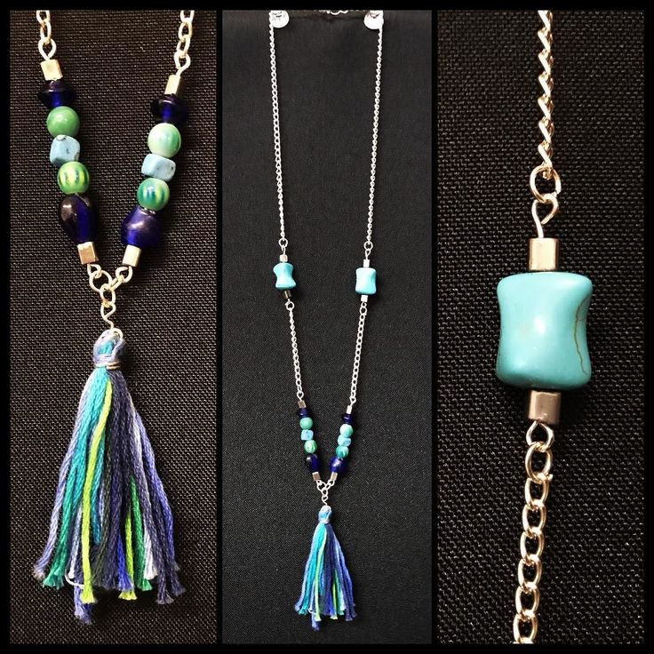 Handmade necklace now available! Blue and green in color with statement turquoise beads and hand made tassel! #torileydesigns #handmade #beautiful #beads #blue #green #turquoise #tassel #available #necklace http://ift.tt/2rLdB4E