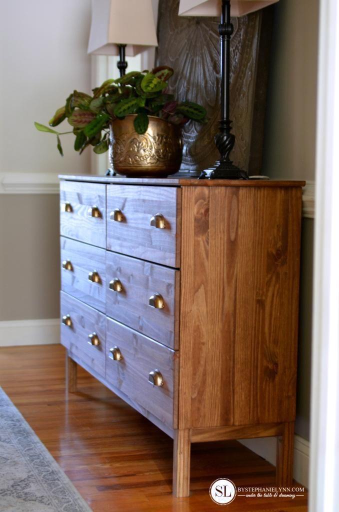 ikea tarva dresser refinished. Craft Supply Storage Dresser. Stain Ikea FurnitureIkea Tarva Dresser Refinished