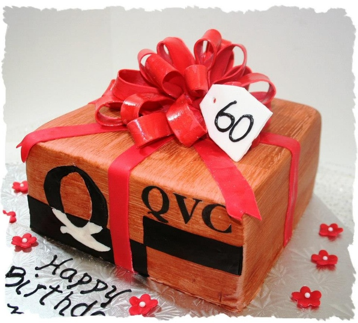 For the QVC shopping lover… A cake in the form of a QVC box.