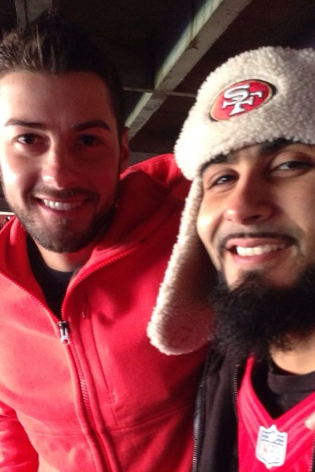 #SFGiants George Kontos and Sergio Romo having a blast at the #49ers game!!! #BigWin