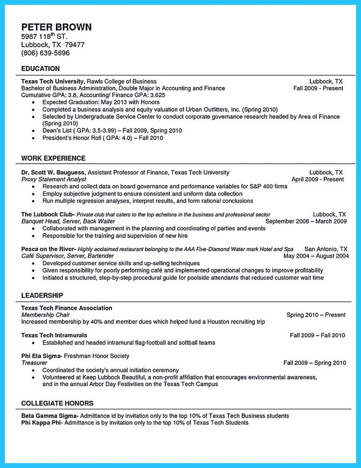 cool Cool Sample of College Graduate Resume with No Experience - beta gamma sigma resume