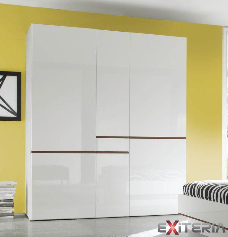 Šatníková skriňa Cordelia, dva veľkosť, biela Cordelia furniture - wardrobe